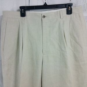 Claiborne Beige Linen Blend Dress Pants 36x29